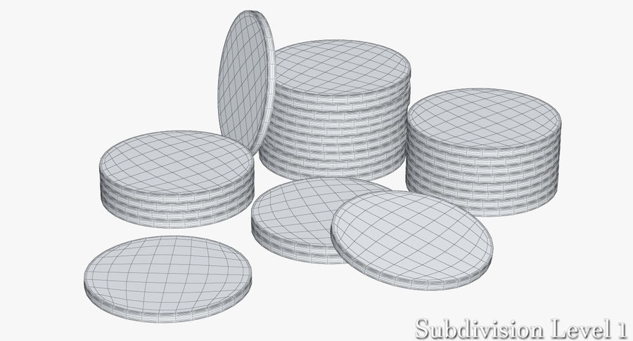 Casino Chips 2 royalty-free 3d model - Preview no. 12