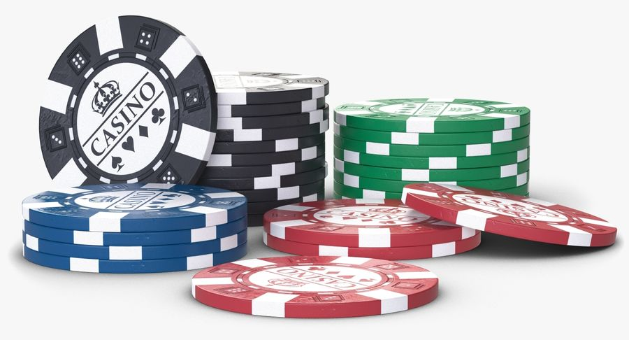 Casino Chips 2 royalty-free 3d model - Preview no. 5