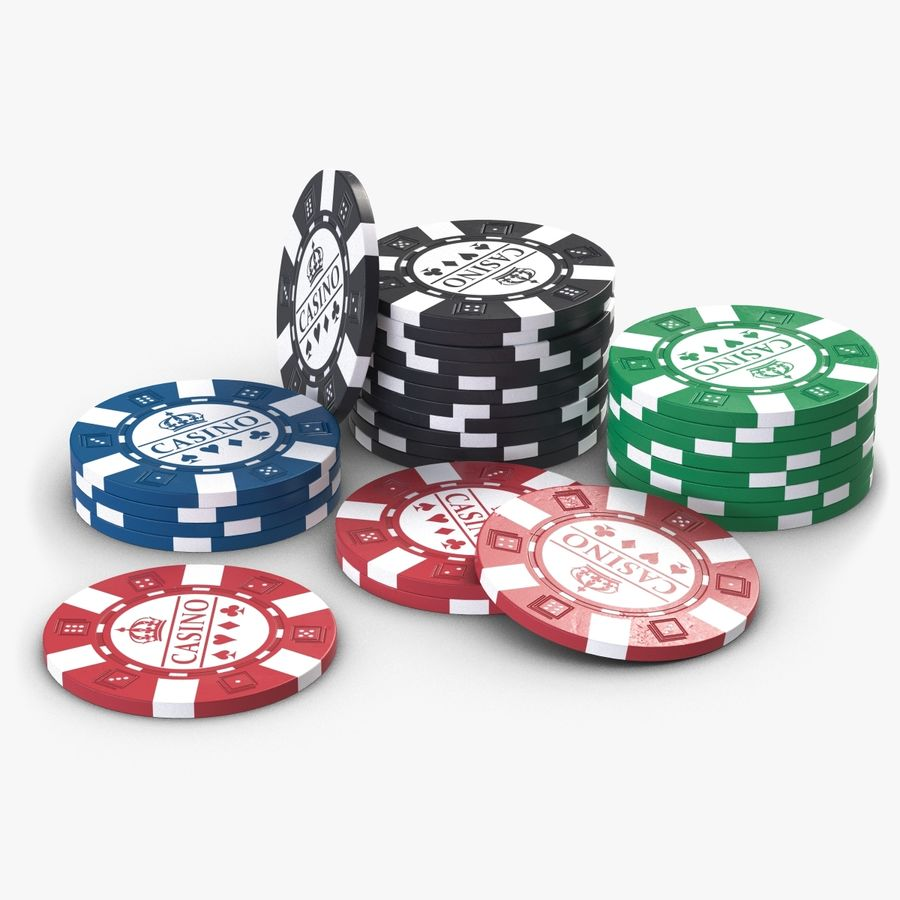 Casino Chips 2 royalty-free 3d model - Preview no. 1
