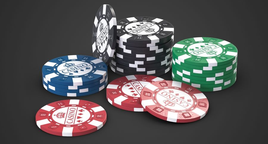 Casino Chips 2 royalty-free 3d model - Preview no. 3