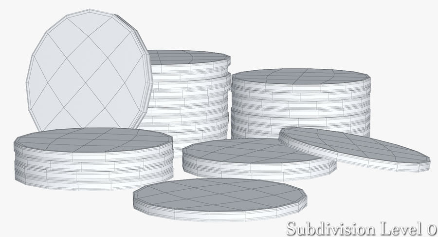 Casino Chips 2 royalty-free 3d model - Preview no. 15