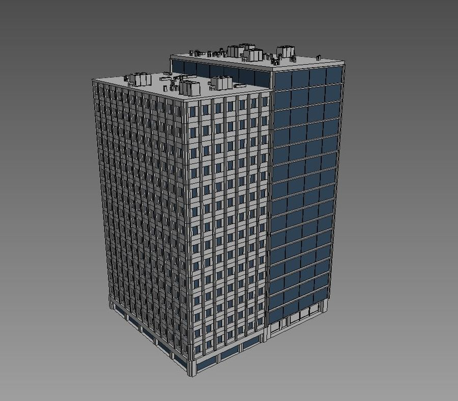 Office Building 04 royalty-free 3d model - Preview no. 5