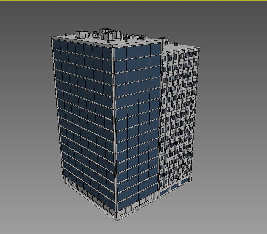 Office Building 04 royalty-free 3d model - Preview no. 4