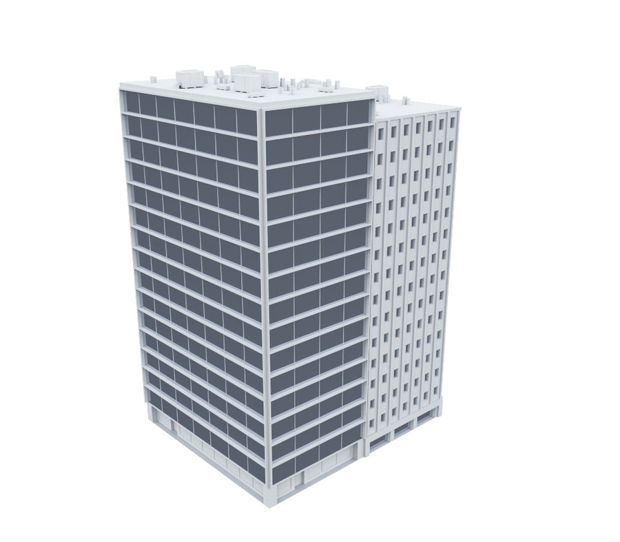 Office Building 04 royalty-free 3d model - Preview no. 3