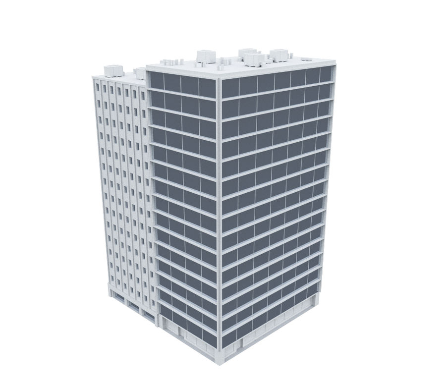 Office Building 04 royalty-free 3d model - Preview no. 2
