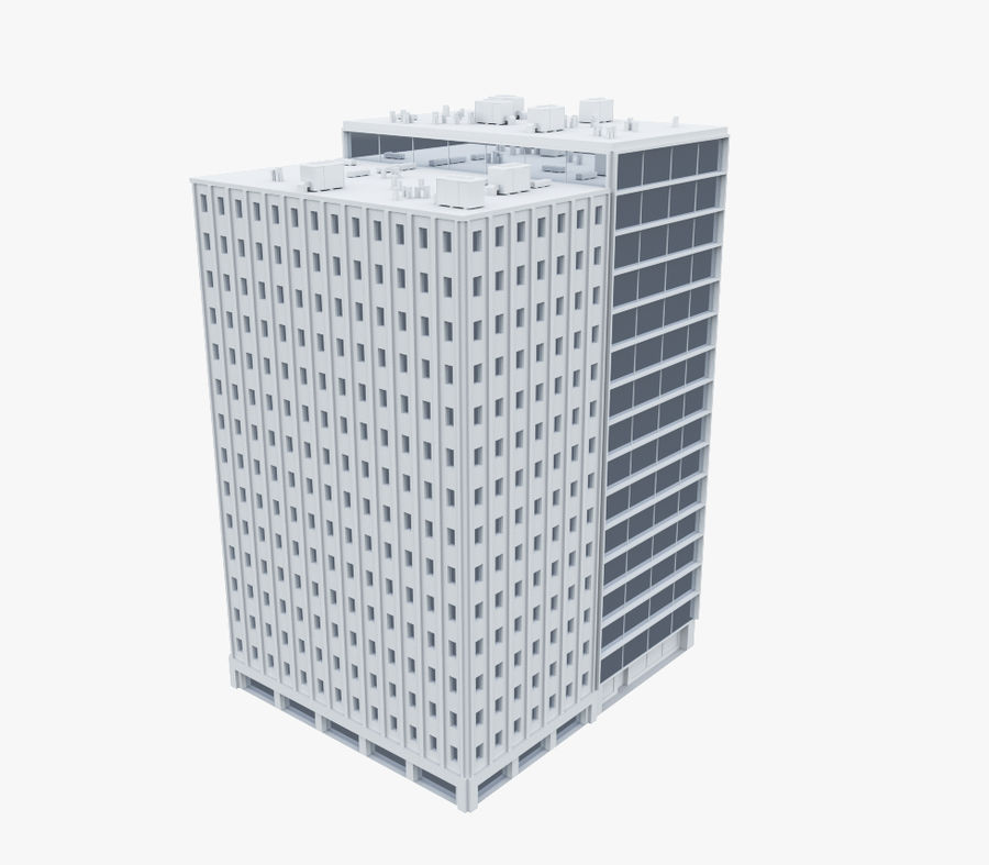 Office Building 04 royalty-free 3d model - Preview no. 1