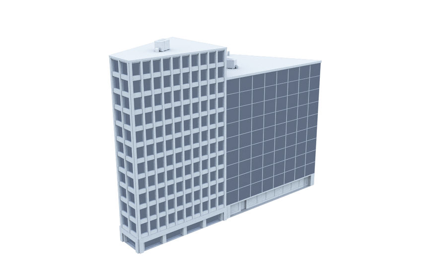 Office Building 08 royalty-free 3d model - Preview no. 2