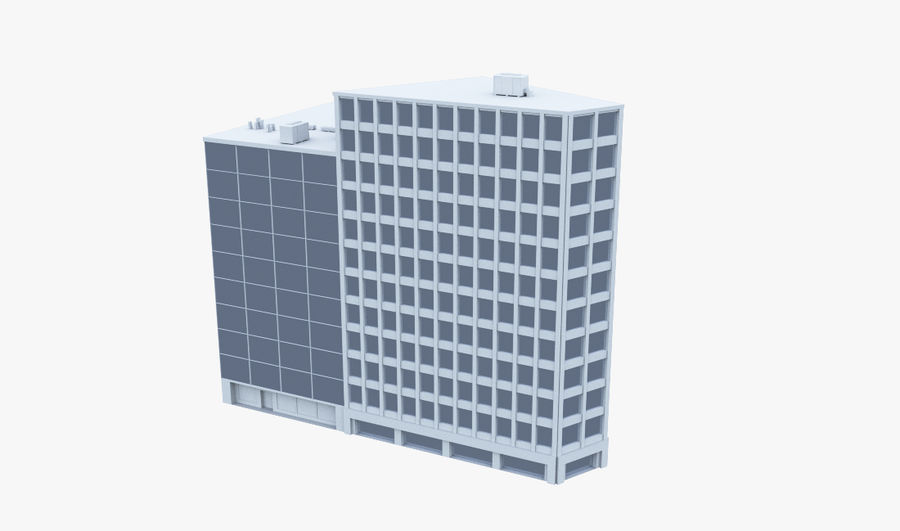 Office Building 08 royalty-free 3d model - Preview no. 1