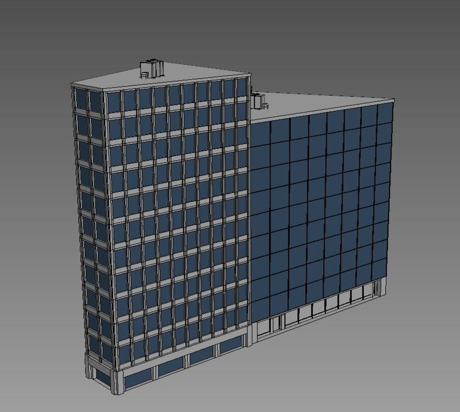 Office Building 08 royalty-free 3d model - Preview no. 4