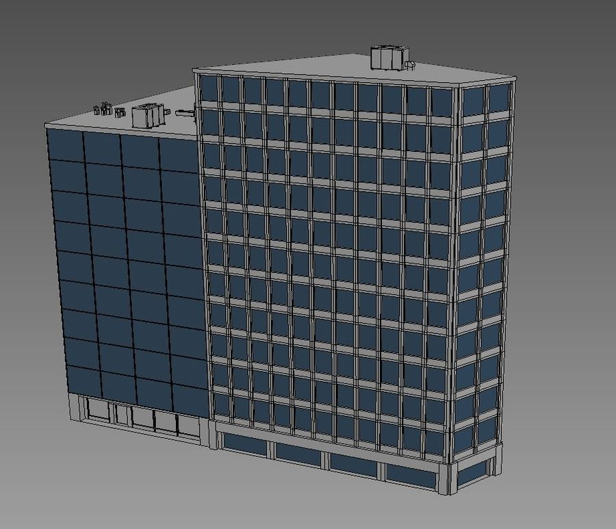 Office Building 08 royalty-free 3d model - Preview no. 5