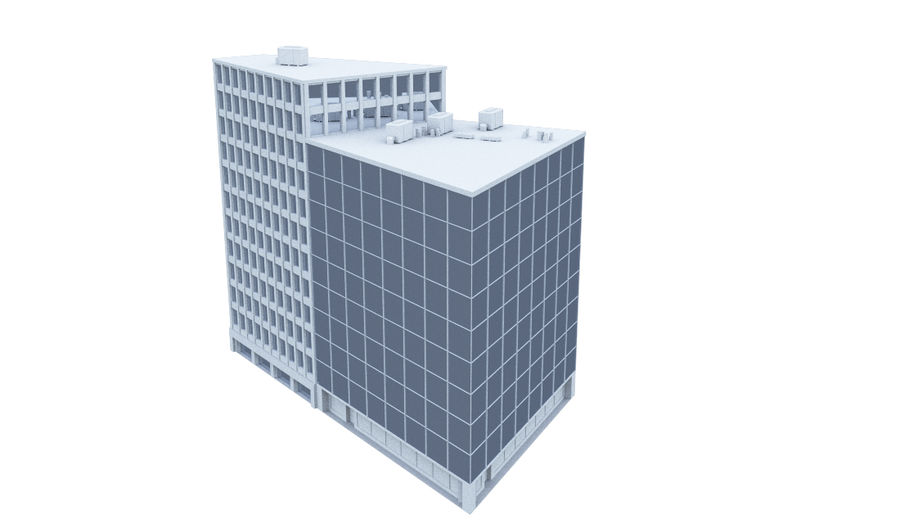 Office Building 08 royalty-free 3d model - Preview no. 3