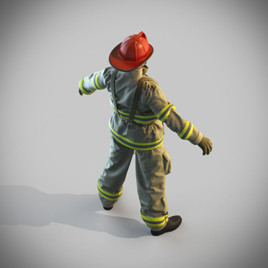 Fireman royalty-free 3d model - Preview no. 12