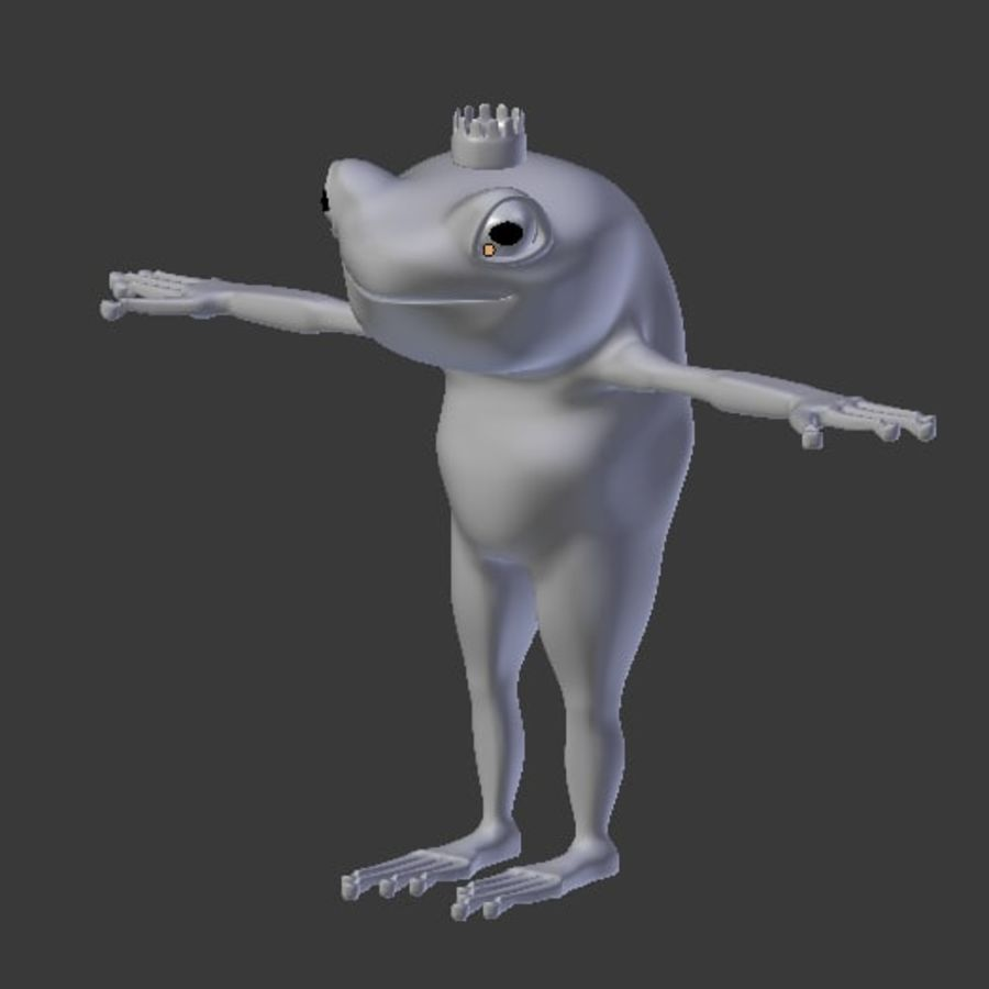 Frog royalty-free 3d model - Preview no. 12