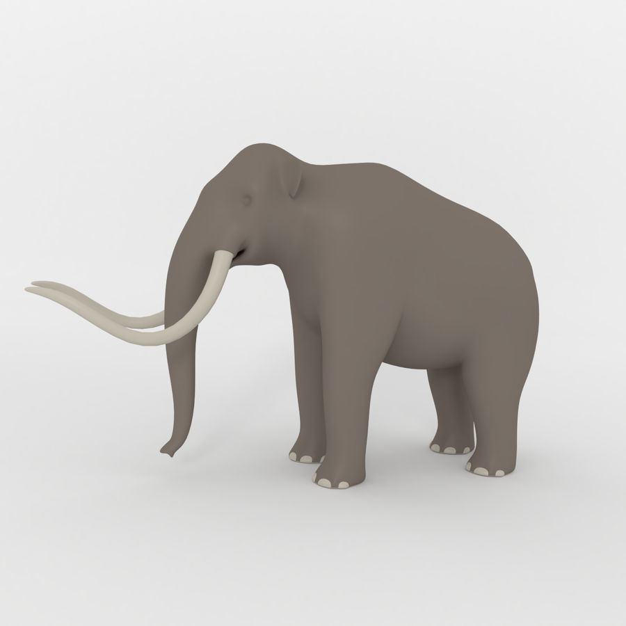 Mammoth royalty-free 3d model - Preview no. 2
