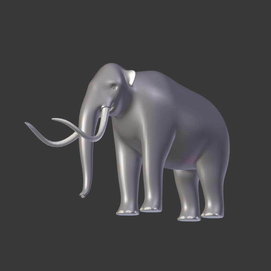 Mammoth royalty-free 3d model - Preview no. 7