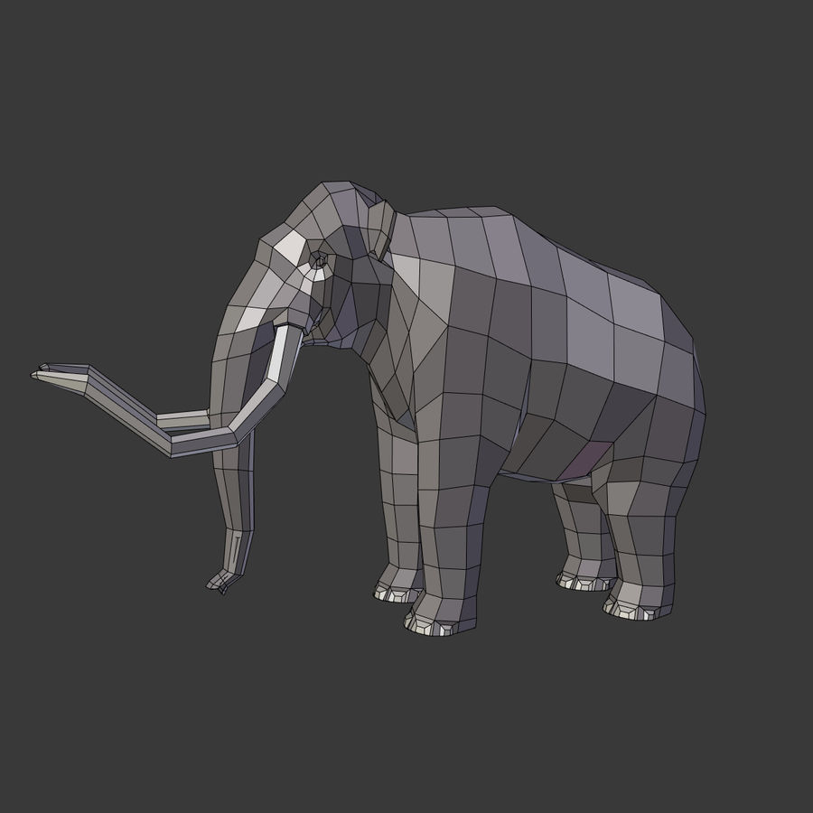 Mammoth royalty-free 3d model - Preview no. 3