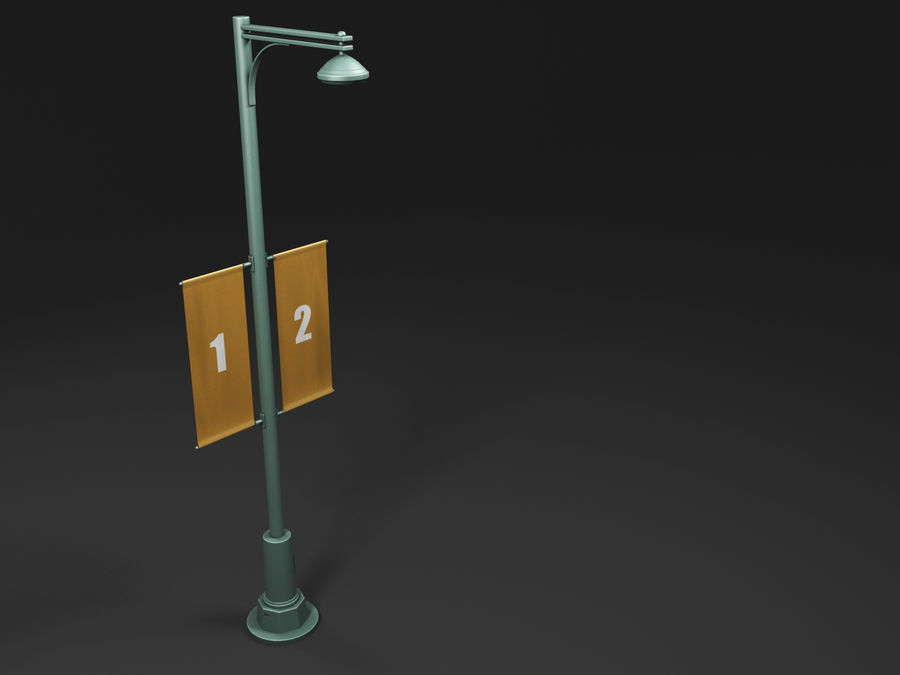 street lamp royalty-free 3d model - Preview no. 14