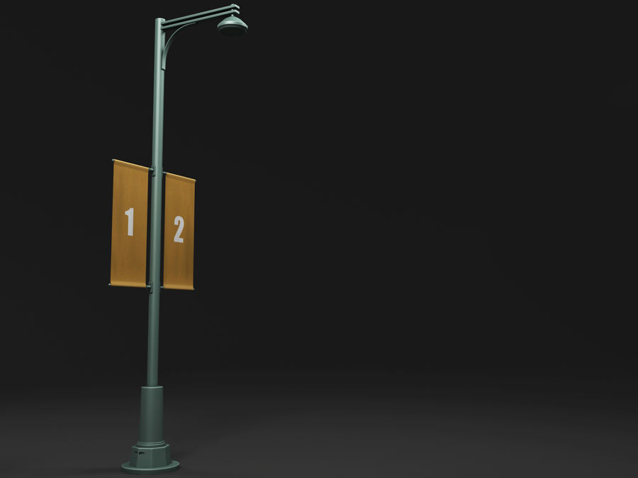street lamp royalty-free 3d model - Preview no. 13