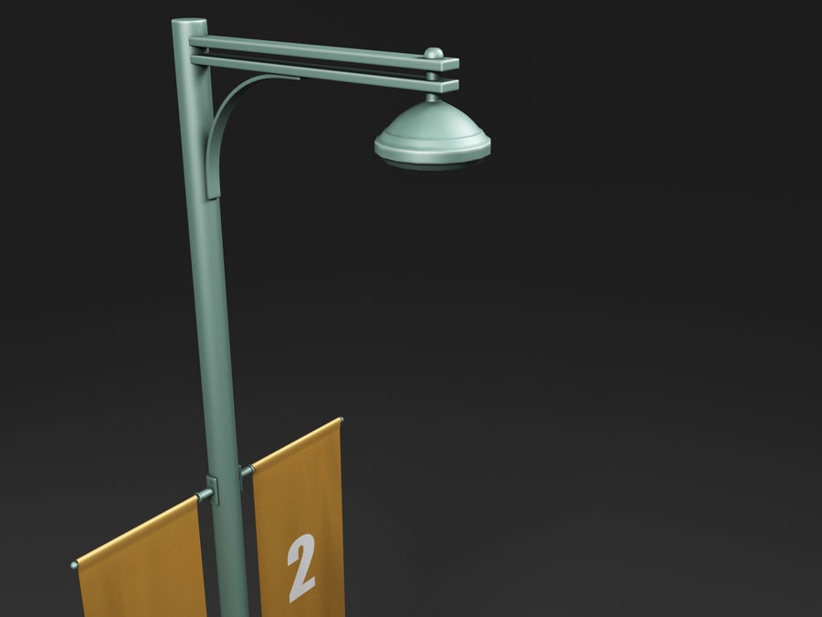 street lamp royalty-free 3d model - Preview no. 17