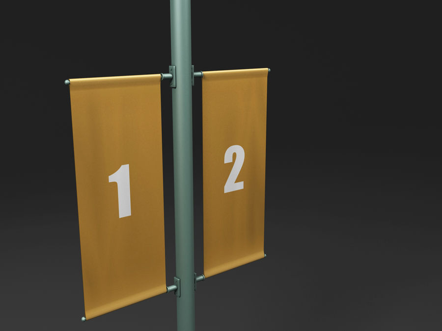 street lamp royalty-free 3d model - Preview no. 16