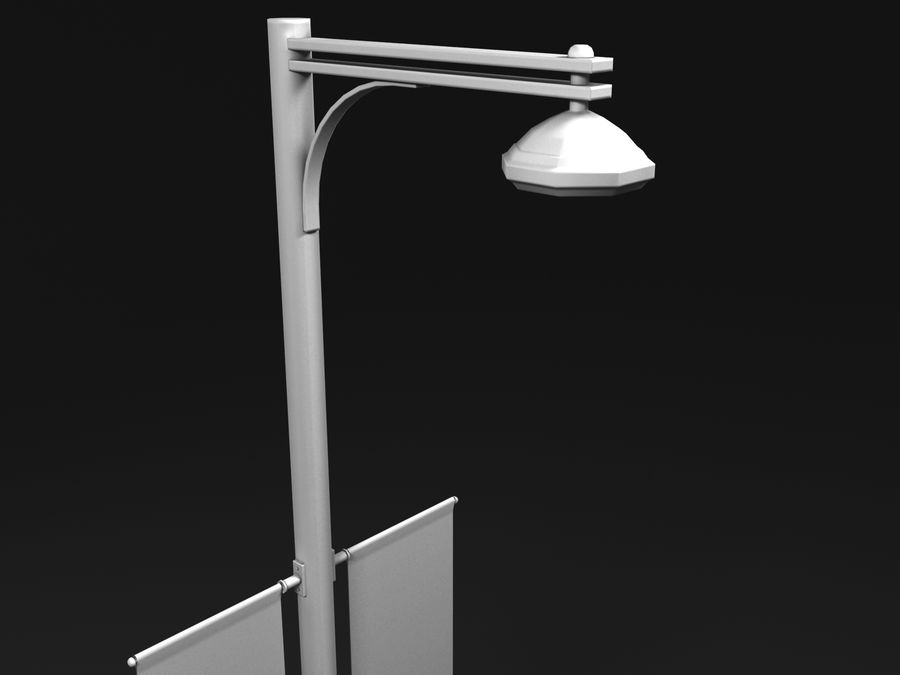 street lamp royalty-free 3d model - Preview no. 8