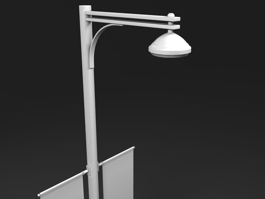 street lamp royalty-free 3d model - Preview no. 10