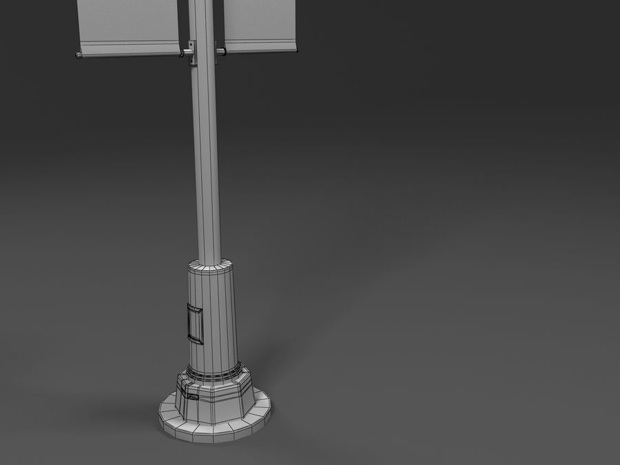 street lamp royalty-free 3d model - Preview no. 5