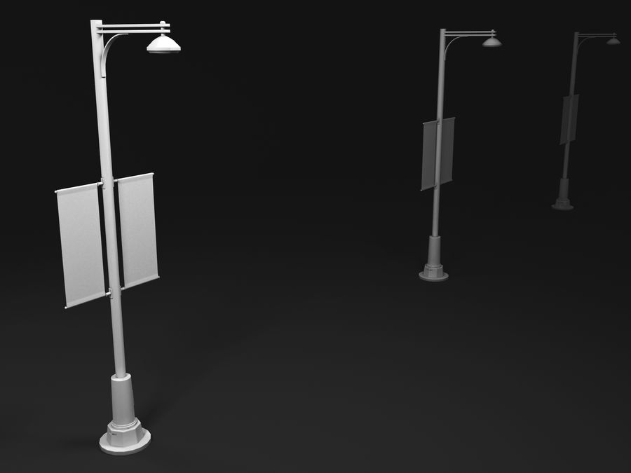 street lamp royalty-free 3d model - Preview no. 2