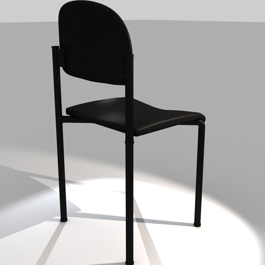 Silla simple royalty-free modelo 3d - Preview no. 4
