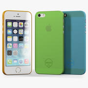 Apple iPhone 5S med Case Ozaki Jelly 3d model