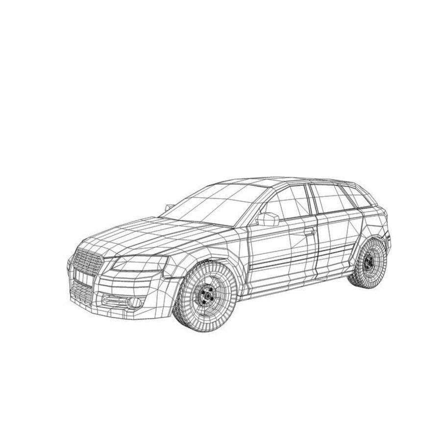 Автомобиль А3 royalty-free 3d model - Preview no. 4