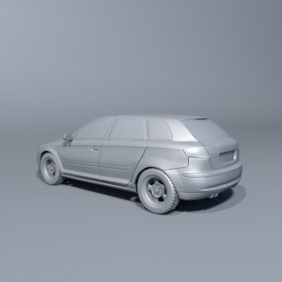 Автомобиль А3 royalty-free 3d model - Preview no. 2