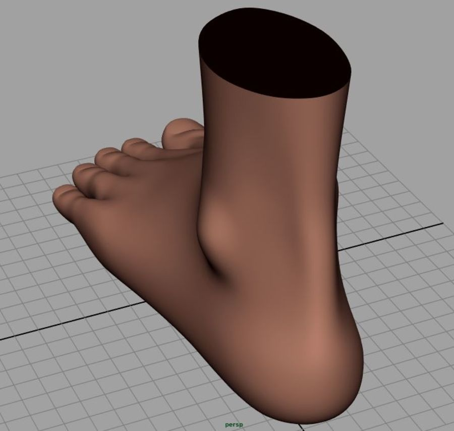 Pied masculin [maillage de base] royalty-free 3d model - Preview no. 7