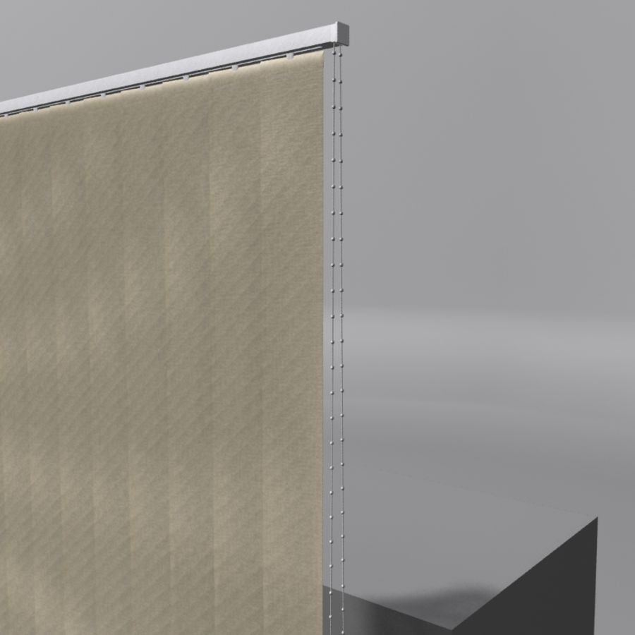 Vertical Blinds royalty-free 3d model - Preview no. 2