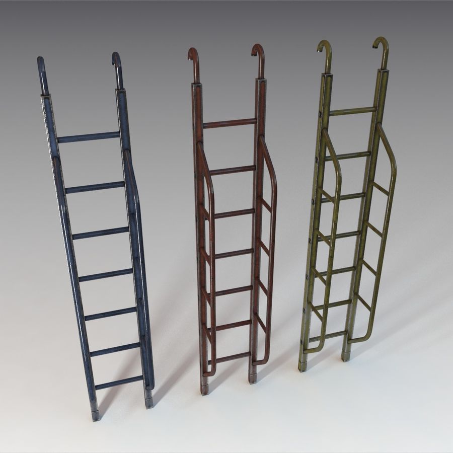 Ladder royalty-free 3d model - Preview no. 7