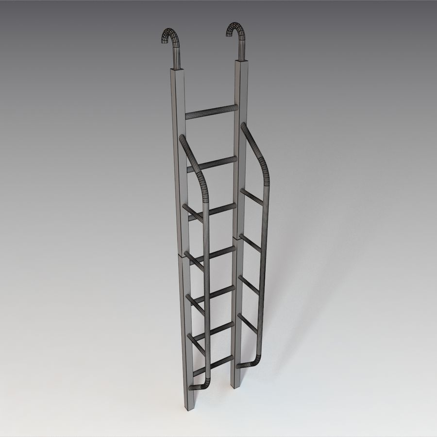 Ladder royalty-free 3d model - Preview no. 8