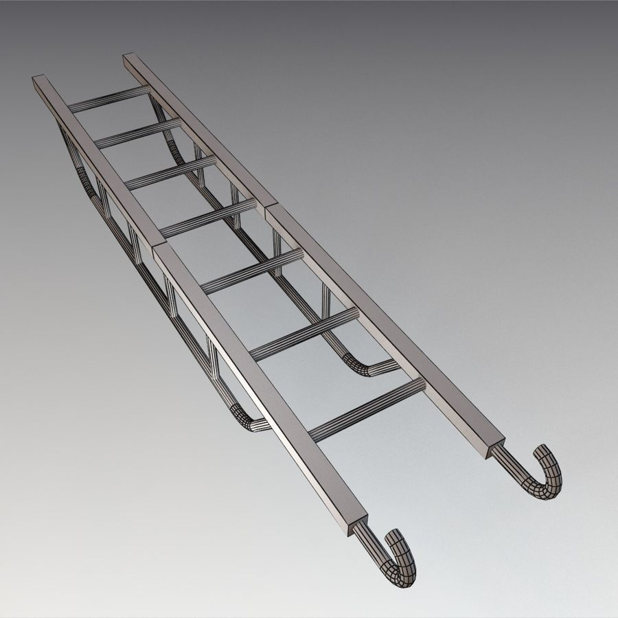 Ladder royalty-free 3d model - Preview no. 9