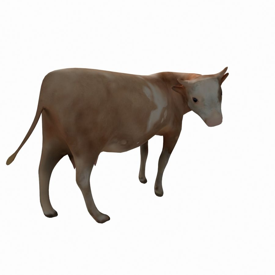 Cow animal royalty-free 3d model - Preview no. 3