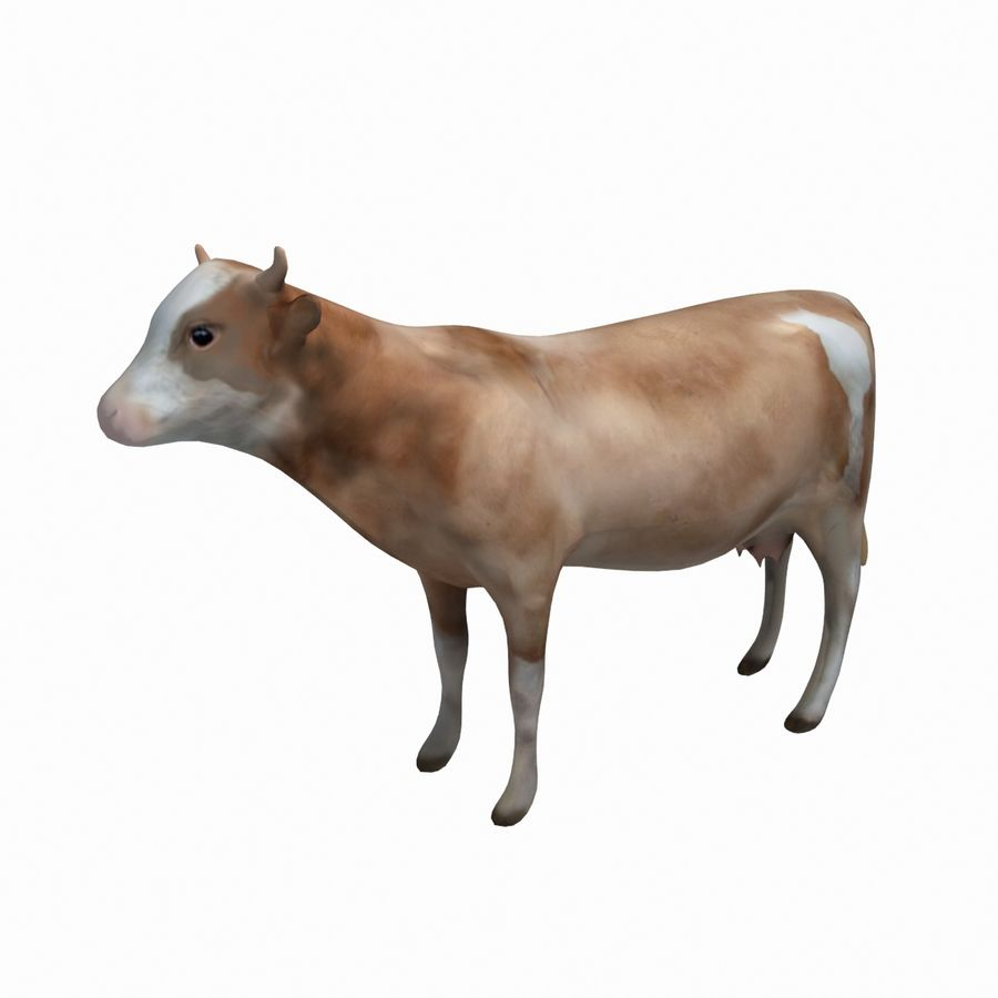 Cow animal royalty-free 3d model - Preview no. 1