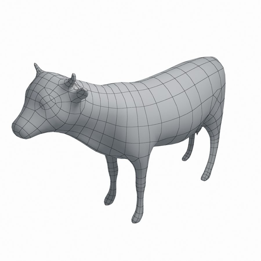 Cow animal royalty-free 3d model - Preview no. 5