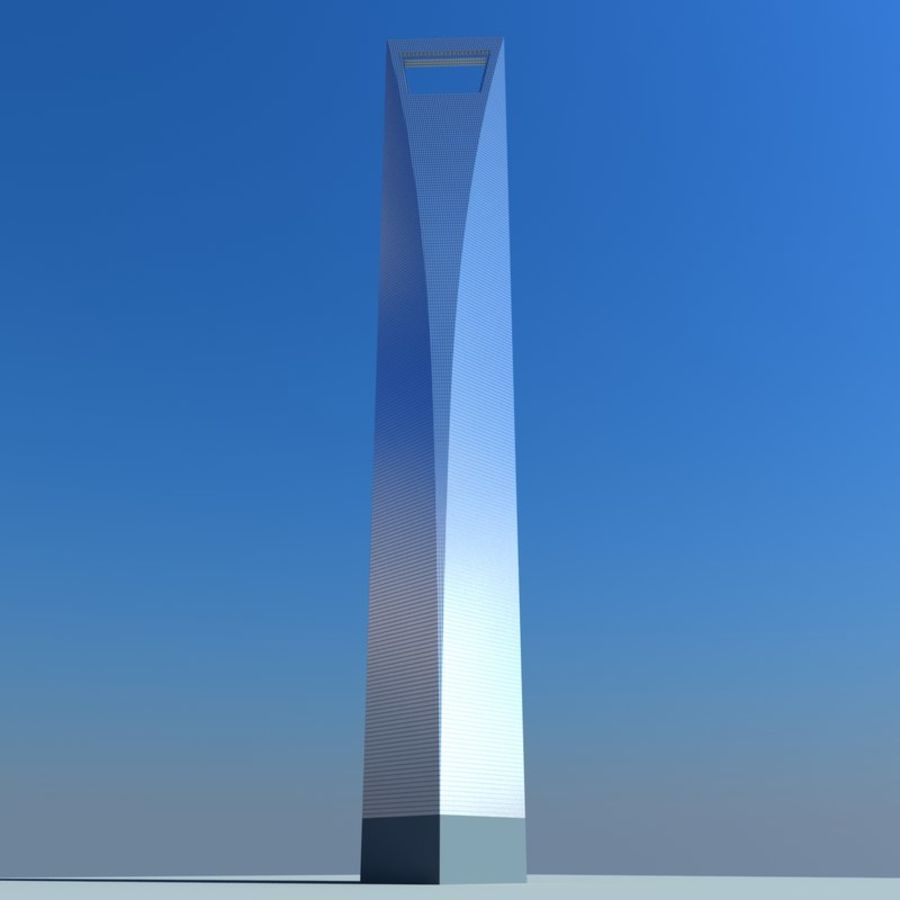Shanghai World Financial Center royalty-free 3d model - Preview no. 3