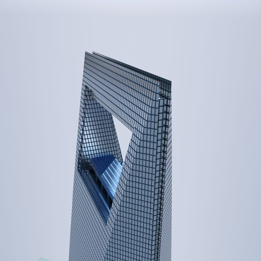 Shanghai World Financial Center royalty-free 3d model - Preview no. 7