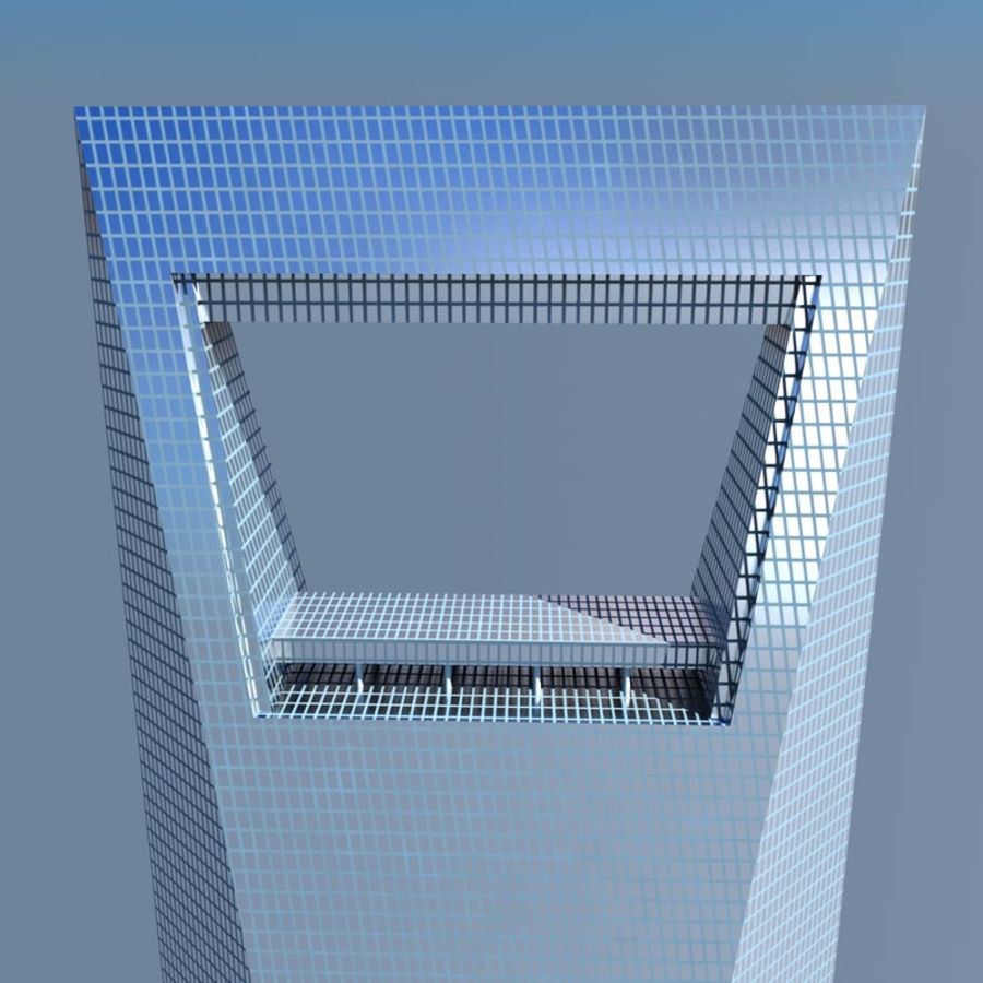 Shanghai World Financial Center royalty-free 3d model - Preview no. 2