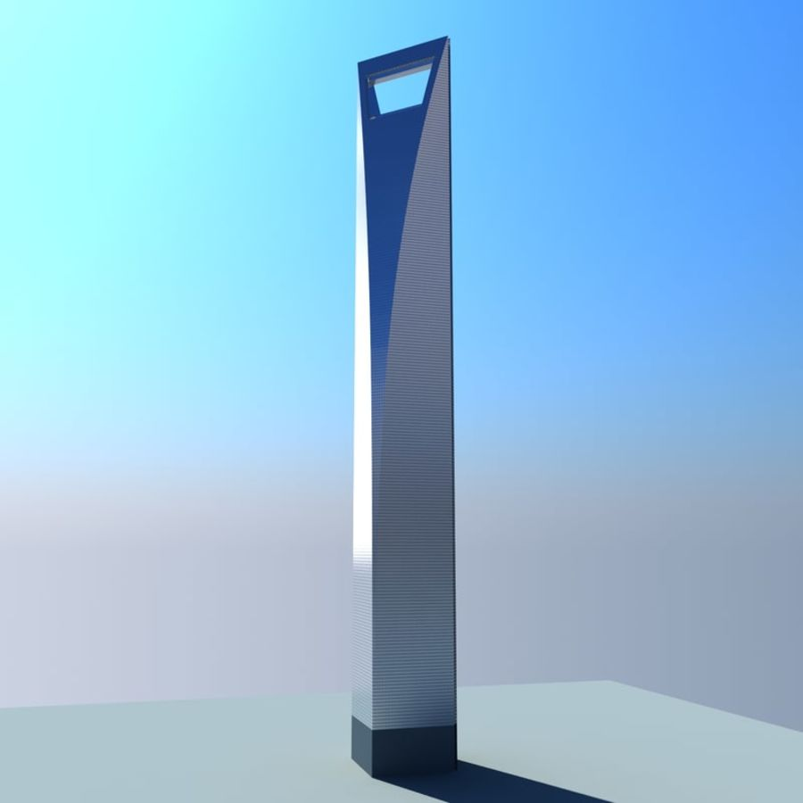 Shanghai World Financial Center royalty-free 3d model - Preview no. 4