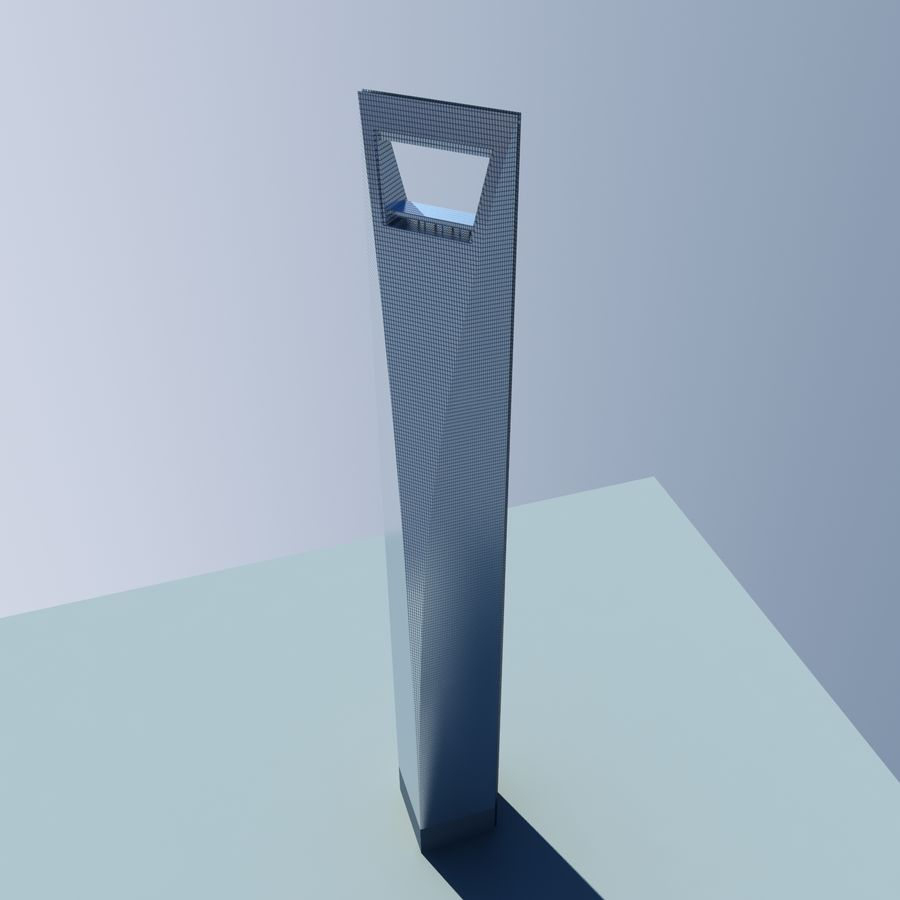 Shanghai World Financial Center royalty-free 3d model - Preview no. 5