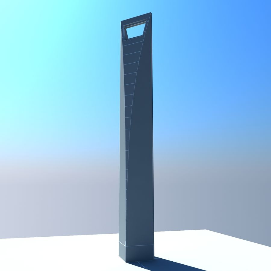 Shanghai World Financial Center royalty-free 3d model - Preview no. 8