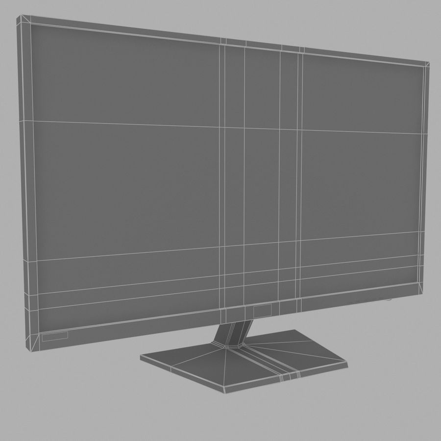 LG LED Monitor / TV royalty-free 3d model - Preview no. 5