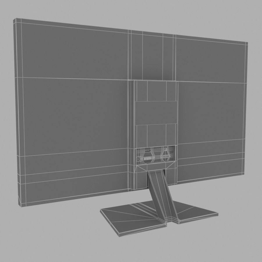 LG LED Monitor / TV royalty-free 3d model - Preview no. 6