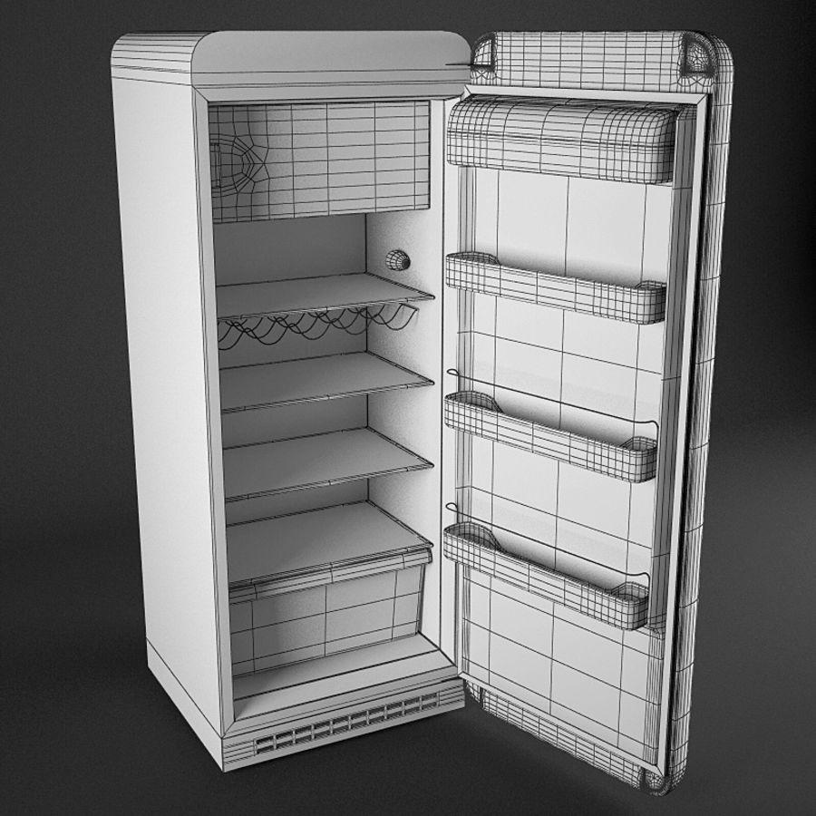 retro fridges royalty-free 3d model - Preview no. 3