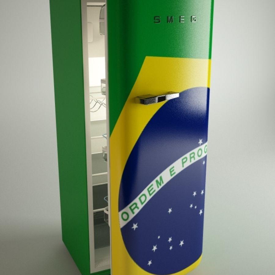 retro fridges royalty-free 3d model - Preview no. 7